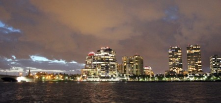 Trump Plaza (on right) in West Palm Beach