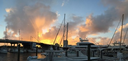 This week's money shot; sunset at Las Olas Marina