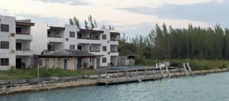 One of many abandoned projects in Grand Bahama