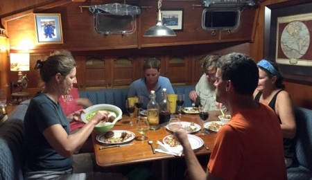 "Dinner onboard ""Miss Adventure"""