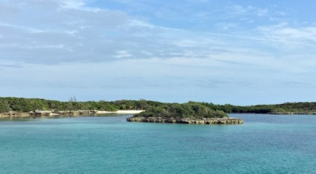 Our first anchorage in the Berrys, off Great Stirrup Cay