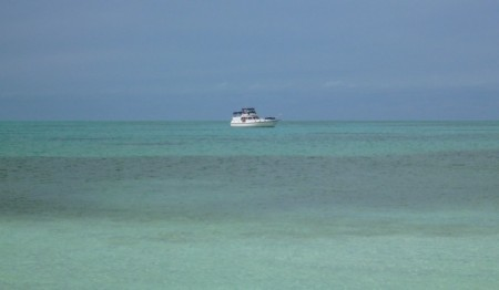 """Miss Adventure"" all alone off Hoffman's Cay"