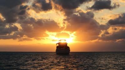 """""""Miss Adventure"""" near Staniel Cay"""