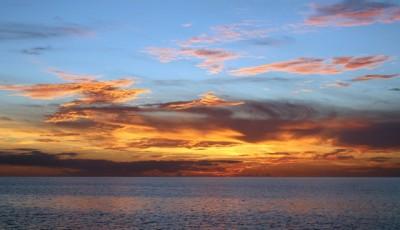 Sunset near Staniel Cay