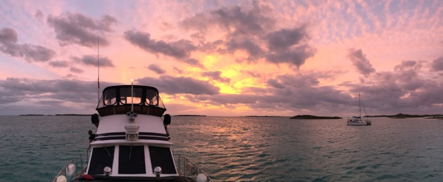 Sunset at Rudder Cut Cay