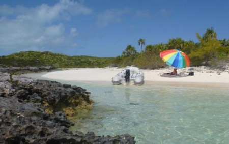 Our lunch stop on O'Brien's Cay