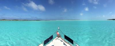 Anchored at Shroud Cay