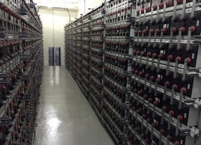 "This is one of three aisles of batteries at ""Another Private Island"""