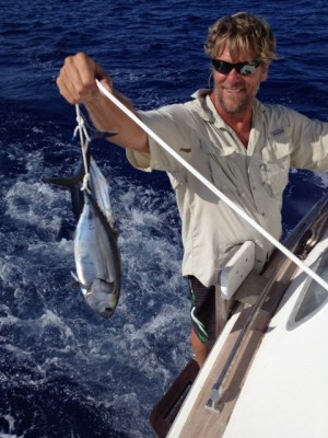 Brian with our tuna catch