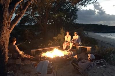 "Campfire at ""Large General's Bits"""