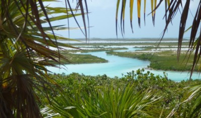 Shroud Cay creeks seen from Camp Driftwood