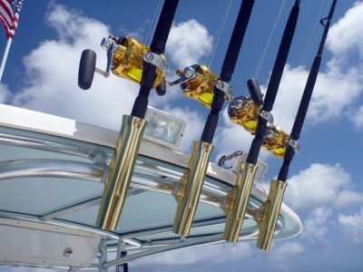 Half of Paul's quiver of offshore fishing reels