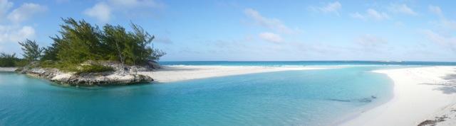 Southern creek ocean cut at Shroud Cay