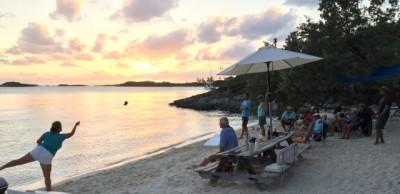 """The """"cornhole"""" world championships at Pirate Beach"""