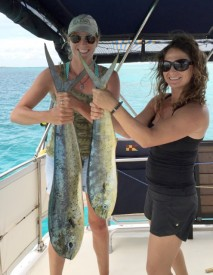 "Heather and ""Allison"" with their Mahi"