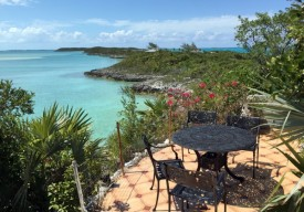 "A terrace on ""a private island in the Exumas"""