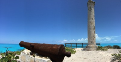 "An old ""salt beacon"" on Little Exuma Island"