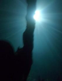 Underwater stalagmite