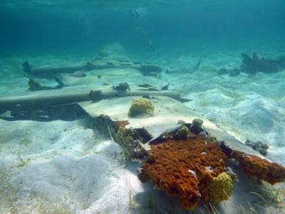 Plane wreck near Musha Cay