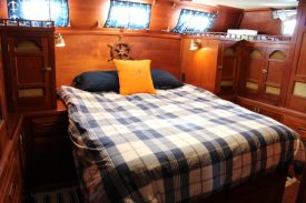 The awesome aft cabin queen bed
