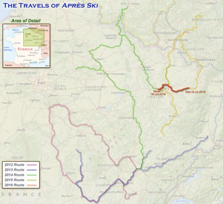 France 2016 - Week 1 Route