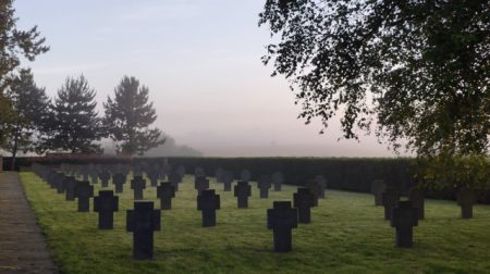 A WW I German military cemetery in Lorraine