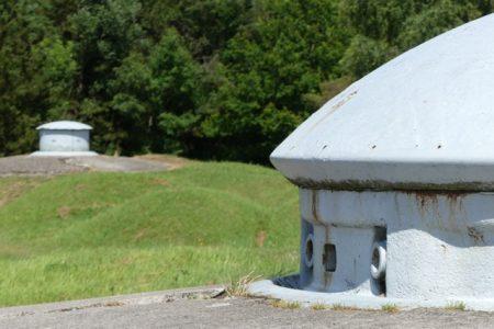 Retractable turrets on a WW I fort near Verdun