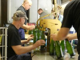 Bottling at Zimmerlin-Flamant Champagne