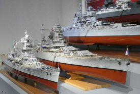 French naval ship models