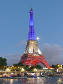 The tower in French colors
