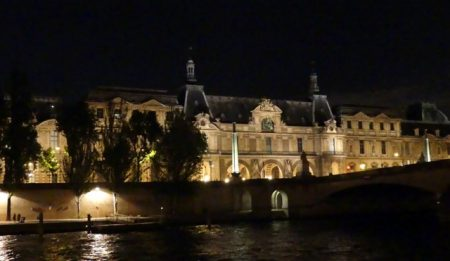 The Louvre seen from the party boat