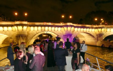 The party on the Seine in Paris