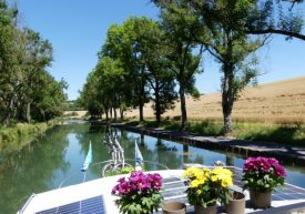 Canal scenery near Bar-le-Duc