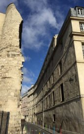 Section of old city wall in the Marais