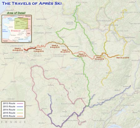 France 2016 – Week 6 Route