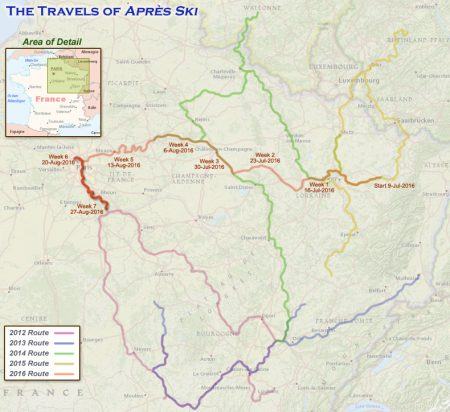 France 2016 - Week 7 Route