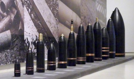 Impressive display of military shells