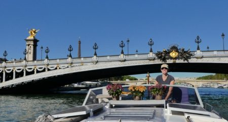 Passing under Pont Alexandre III