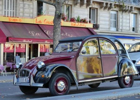 A classic French car in Paris