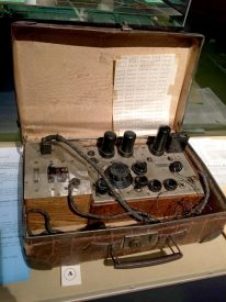 Radio transmitter hidden in a suitcase