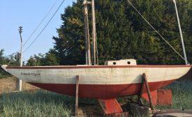 Roger Plisson's tiny boat