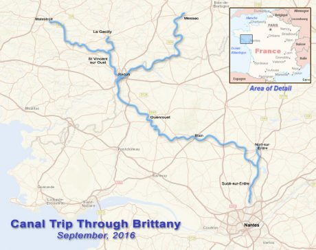 Our route through Brittany