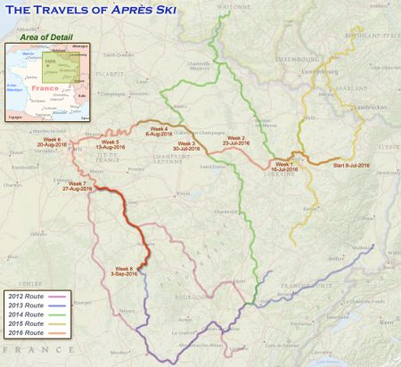 France 2016 - Week 8 Route