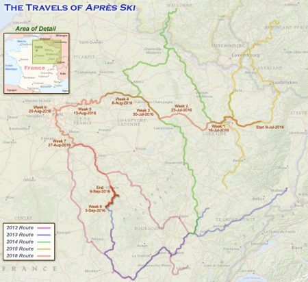 France 2016 - Week 9 Route