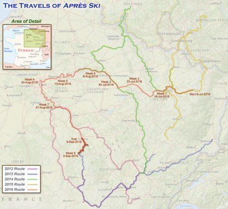 France 2016 - Week 9 Route