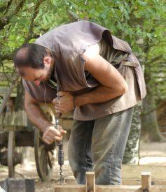 A craftsman at Guédelon