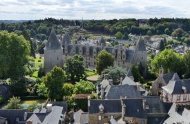 From the church tower in Josselin