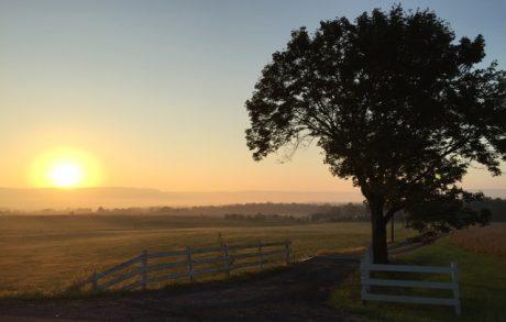Sunrise in western Virginia