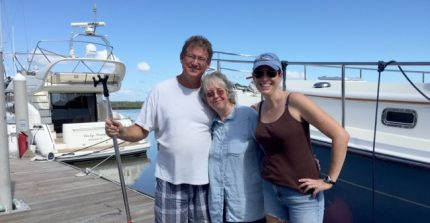 Allen, Bobbie, and Heather at Hidden Harbor Yacht Club