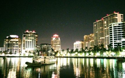 Anchored in front of Trump Plaza, West Palm Beach